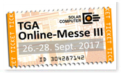 3. Online-Messe für TGA, 26.-28. Sept. 2017 (Aug. 17)